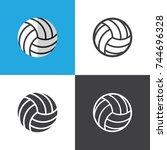 volleyball ball   Shutterstock .eps vector #744696328