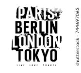Cities Typography For T Shirt...