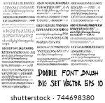 set of font brush illustration... | Shutterstock .eps vector #744698380
