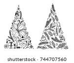 hand drawn vector illustration  ... | Shutterstock .eps vector #744707560