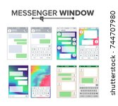 mobile ui kit messenger vector...