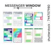 mobile ui kit messenger vector...