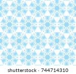 seamless illustrated pattern... | Shutterstock .eps vector #744714310