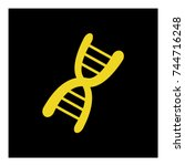 dna icon vector | Shutterstock .eps vector #744716248
