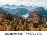 view overlooking schwangau ...   Shutterstock . vector #744717940