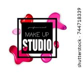 makeup studio logo design... | Shutterstock .eps vector #744718339