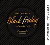 black friday sale. discount web ... | Shutterstock .eps vector #744731656