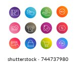 trendy app linear icons vector...