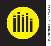 music  dynamics icon  eps10   Shutterstock .eps vector #744741598