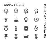 set of medals and awards icons  ... | Shutterstock .eps vector #744741883