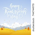 vector illustration  fall... | Shutterstock .eps vector #744744970