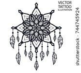 tattoo for shoulder  waist ... | Shutterstock .eps vector #744745924