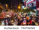 ho chi minh city  vietnam  ... | Shutterstock . vector #744746560