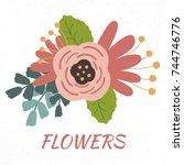 vector illustration of flower...   Shutterstock .eps vector #744746776