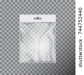 ttransparent plastic bag... | Shutterstock .eps vector #744752440