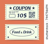 coupon ticket card. element...   Shutterstock .eps vector #744756694
