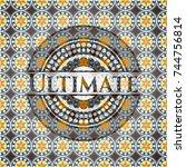 ultimate arabic emblem... | Shutterstock .eps vector #744756814