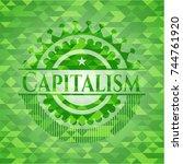 capitalism realistic green... | Shutterstock .eps vector #744761920