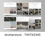 business templates for tri fold ... | Shutterstock .eps vector #744765340