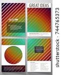 business templates for brochure ... | Shutterstock .eps vector #744765373