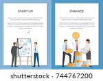 startup and finance collection... | Shutterstock .eps vector #744767200