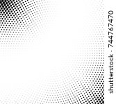 vector abstract dotted halftone ... | Shutterstock .eps vector #744767470