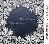 christmas and new year dark... | Shutterstock .eps vector #744768514