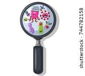 bacteria  virus  germ under the ...   Shutterstock .eps vector #744782158