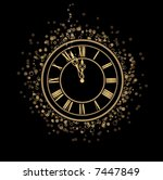new year eve party 2013... | Shutterstock .eps vector #7447849