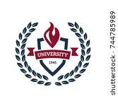 university education logo...   Shutterstock .eps vector #744785989