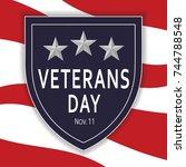 veteranse day | Shutterstock .eps vector #744788548