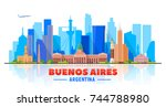 buenos aires   argentina  ... | Shutterstock .eps vector #744788980