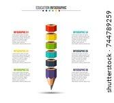 vector education infographic....   Shutterstock .eps vector #744789259