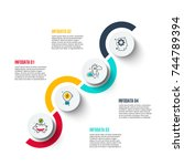 abstract infographics number... | Shutterstock .eps vector #744789394