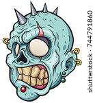 vector illustration of cartoon... | Shutterstock .eps vector #744791860