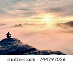 moment of loneliness on exposed ... | Shutterstock . vector #744797026