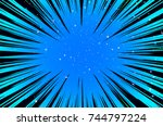 hyper speed warp sun rays or... | Shutterstock . vector #744797224