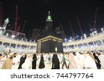 mecca  saudi arabia   march 29  ... | Shutterstock . vector #744797764