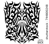tribal tattoo on the back ...   Shutterstock .eps vector #744800248