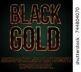 black gold font   typeset for... | Shutterstock .eps vector #744804070