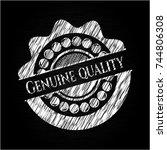 genuine quality chalkboard... | Shutterstock .eps vector #744806308