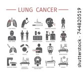lung cancer . symptoms  causes. ... | Shutterstock .eps vector #744820519