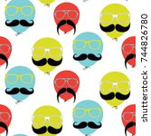 seamless pattern design  ... | Shutterstock .eps vector #744826780