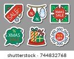 christmas season sale icon...