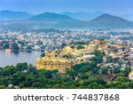 aerial view of city palace.... | Shutterstock . vector #744837868