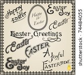 Vector Set  Vintage Easter...