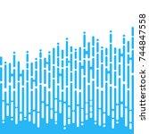 blue irregular rounded lines in ... | Shutterstock .eps vector #744847558