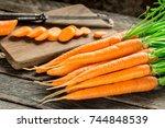 fresh and sweet carrot | Shutterstock . vector #744848539