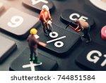 doing the best regarding... | Shutterstock . vector #744851584
