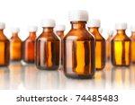 medical bottles  isolated on...   Shutterstock . vector #74485483